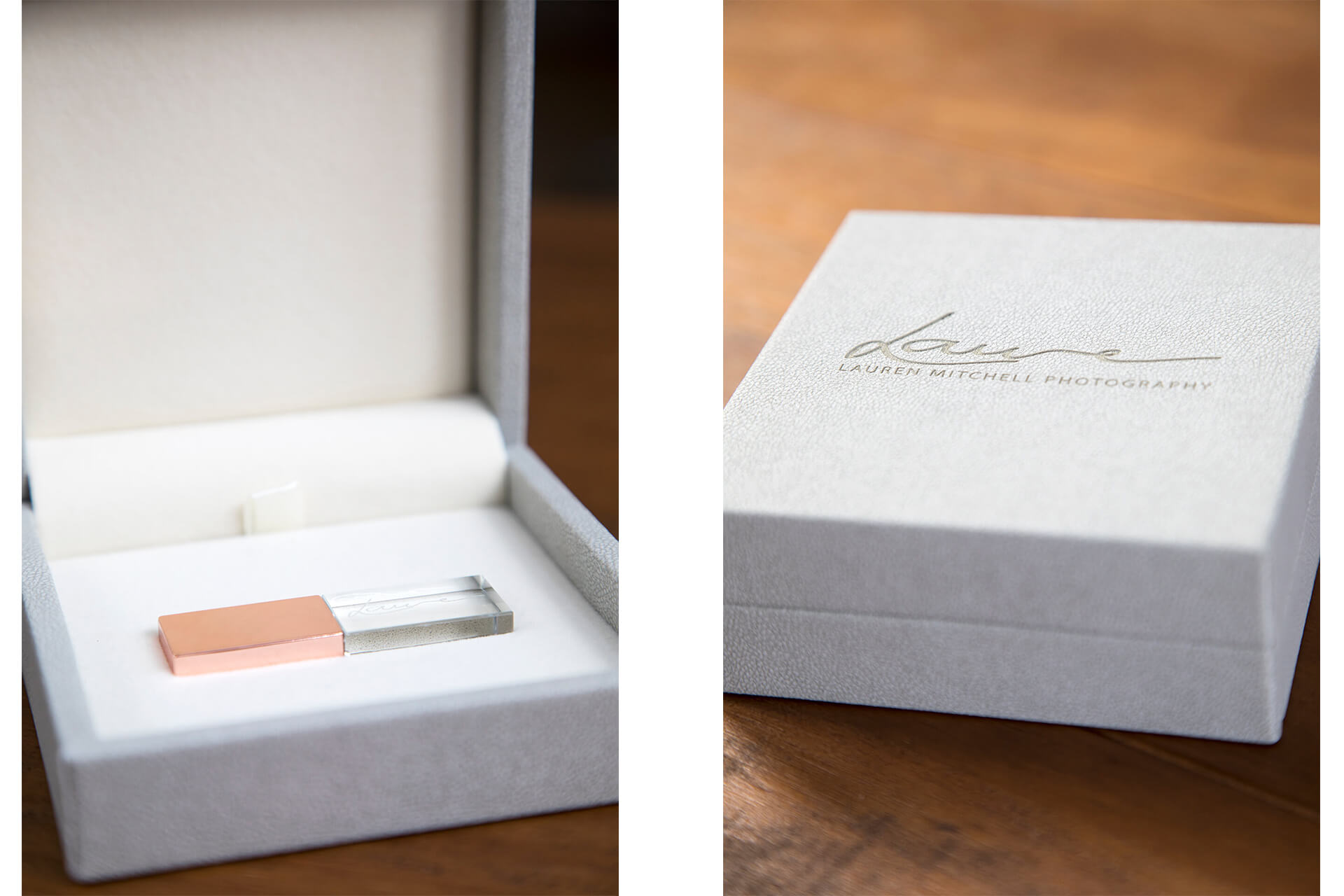 Luxury USB box containing your wedding images