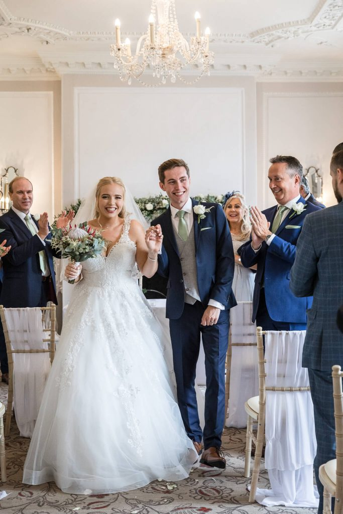 just married at warbrook house