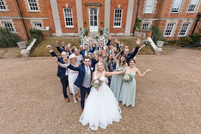 wedding party photography warbrook house