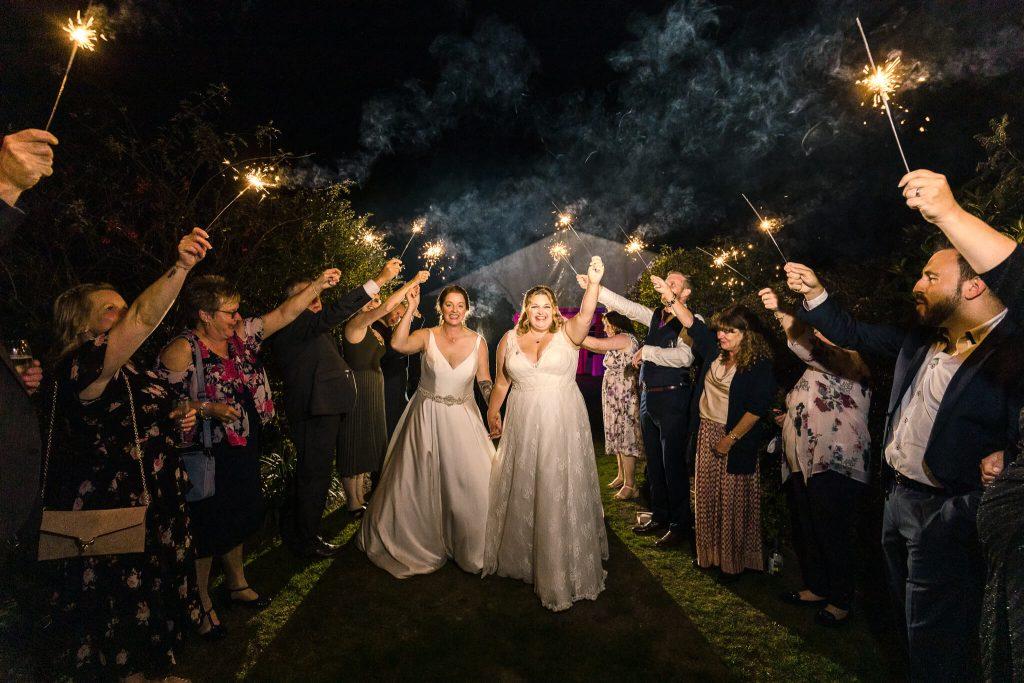 wedding photography sparklers