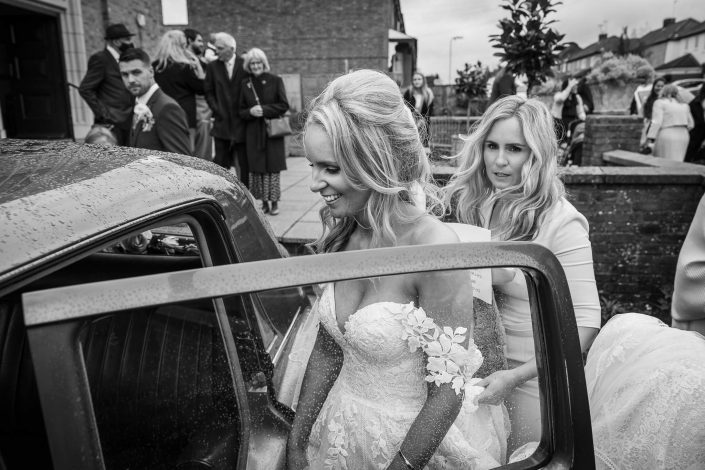 bridal car photograph
