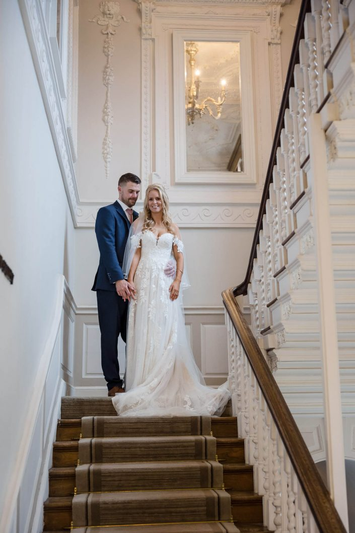 bride and groom at warbrook house