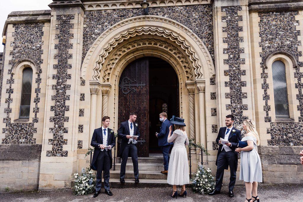 church wedding outside