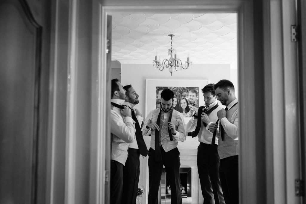 morning groom and ushers