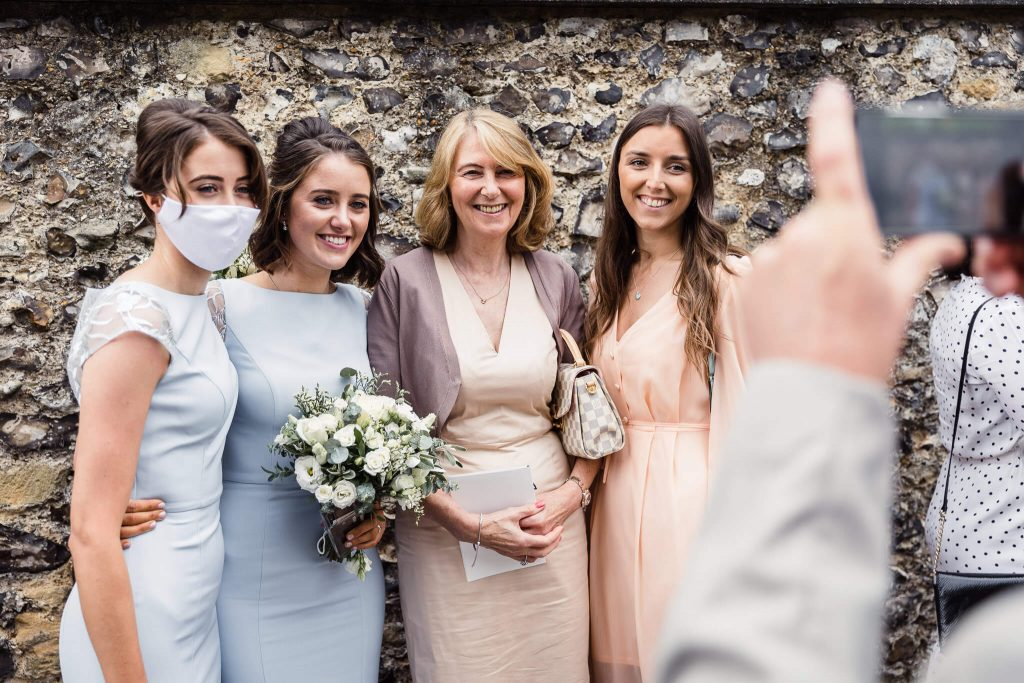 wedding day guests